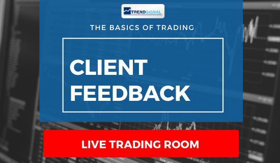 Client feedback – about today's trades called in the Live Trading Room